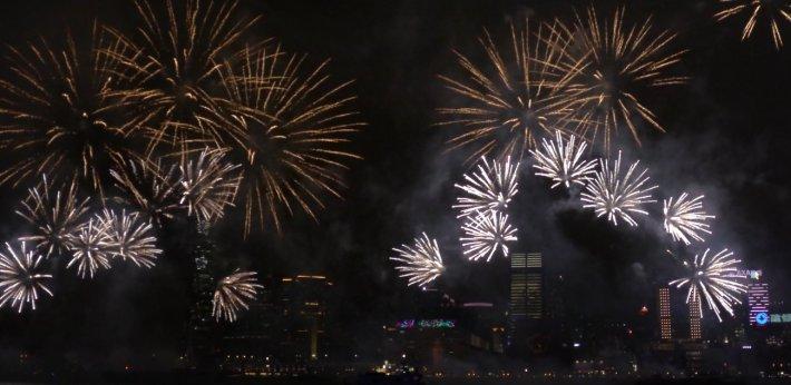 Chinese New Year fireworks, Hong Kong