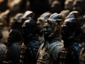 Terra-cotta warriors guard the giftshop