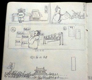 Zhougong temple guide drawing1